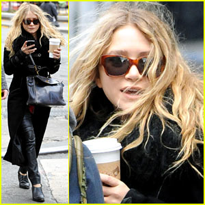 Mary-Kate Olsen Warms Up With a Coffee