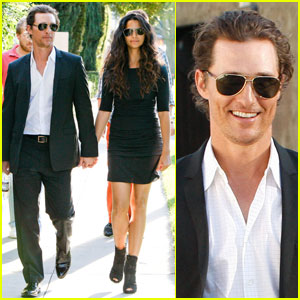 Matthew McConaughey: Birthday Boy With Camila Alves