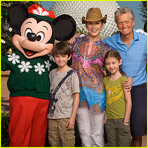 Michael Douglas Hits Disney's Epcot with Fam