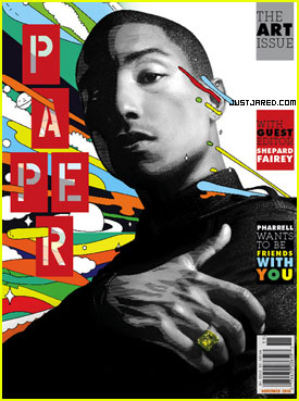 Pharrell Covers 'Paper' Magazine November 2010