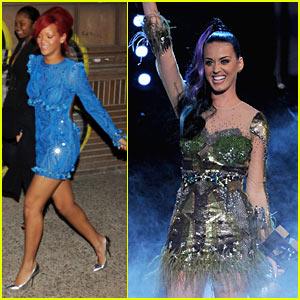 Rihanna & Katy Perry: Midnight Munchies in Madrid!
