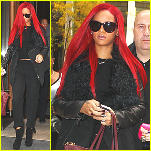 Rihanna's New Do -- Long Red Ha
