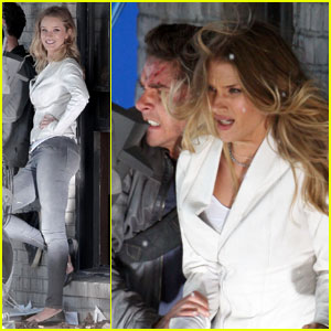 Shia LaBeouf & Rosie Huntington-Whiteley: 'Transformers' Stunts!