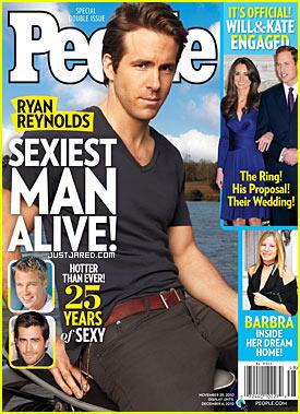 Ryan Reynolds: People's Sexiest Man Alive 2010!