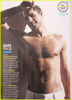 Sam Page: Shirtless for People Mag!