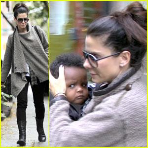 Sandra Bullock: Running Errands With Baby Louis