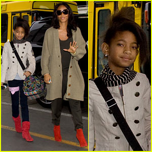 Willow and Jada Pinkett Smith Rock Red Shoes!