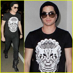 Adam Lambert Wears Alexander McQueen's Skull