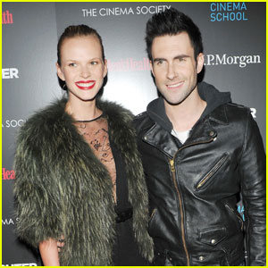 Adam Levine & Anne Vyalitsyna: 'The Fighter' Premiere Pair