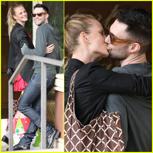 Adam Levine & Anne Vyalitsyna: Lip Locking Lovers