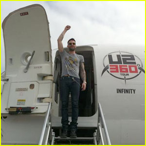 Adam Levine: Thanks U2 for Your 'Kick Ass' Private Jet!