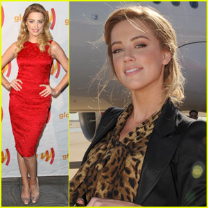 Amber Heard: Red Hot GLAAD Gal