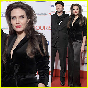 Angelina Jolie: 'The Tourist' Rome Premiere with Brad Pitt!