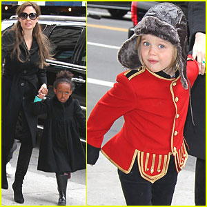 Angelina Jolie: Lee's Art Shop with Zahara and Shiloh!