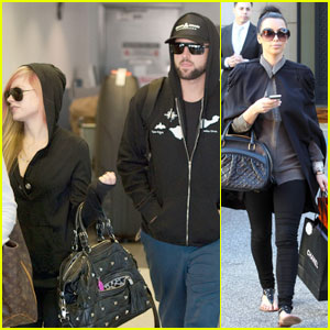 Avril Lavigne & Brody Jenner Leave LAX