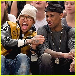 Chris Brown: Knicks Game with Fabolous!