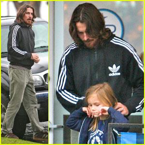 Christian Bale Bundles Up at Blue Plate Oysterette