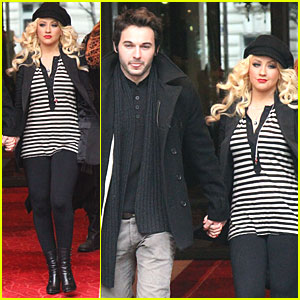 Christina Aguilera: Paris with Matt Rutler!