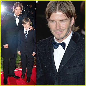 David Beckham & Brooklyn Suit Up for Sun Military Awards
