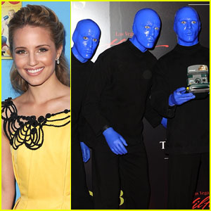 Blue Man Group Pulls Dianna Agron Up On Stage