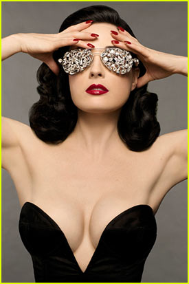 Dita Von Teese: DIY Beauty Book Promo Pic!