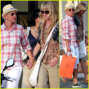 Ellen DeGeneres & Portia de Rossi: St. Barts Stroll