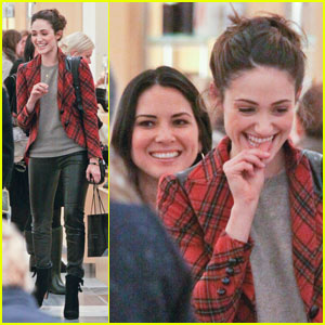 Emmy Rossum & Olivia Munn: Bump-In at Barneys!