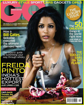 Freida Pinto Covers 'GQ India' December 2010