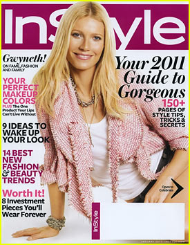 Gwyneth Paltrow Covers 'InStyle' January 2011