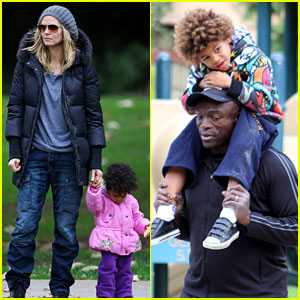 Heidi Klum & Seal: Family Fun at the Park!