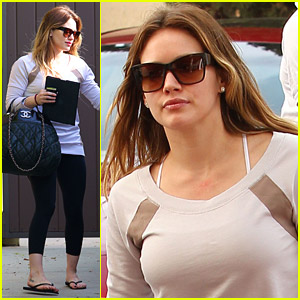 Hilary Duff Works Out And Shops