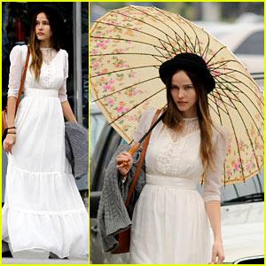 Isabel Lucas Wanders in White