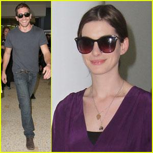 Jake Gyllenhaal & Anne Hathaway Land Down Under