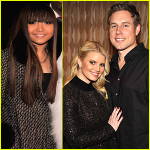 Charice & Jessica Simpson Perform at Rockefeller Center