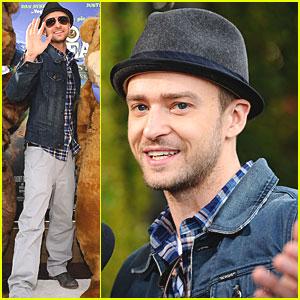 Justin Timberlake: 'Yogi Bear' Premiere!
