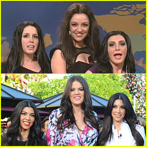 The Kardashian Sisters Get SNL Spoofed