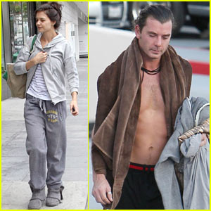 Katie Holmes & Gavin Rossdale: Pre-Holiday Workout!