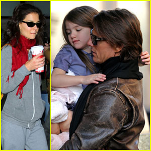 Katie Holmes & Tom Cruise Sweat It Out At SoulCycle
