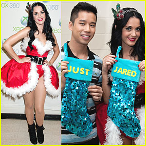 Katy Perry's Ugly Holiday Sweater: Cat Drinking Beer & 3-D Yarn!
