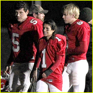 Lea Michele: Glee's Newest Football Player?