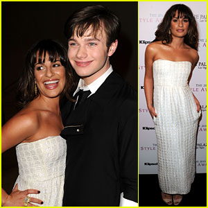 Lea Michele: Hollywood Style Awards with Chris Colfer!