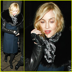 Madonna Dines At The Wolseley