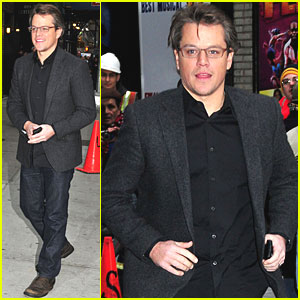 Matt Damon Talks 'True Grit' on Letterman