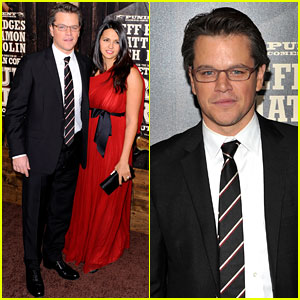 Matt Damon: 'True Grit' Premiere with Luciana!