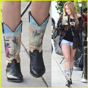 Miley Cyrus: Babe in Boots!