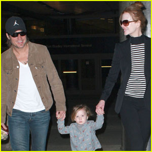Nicole Kidman & Keith Urban: LAX Landing with Sunday