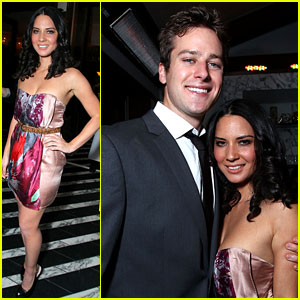 Olivia Munn: Miss Golden Globes Party with Armie Hammer!