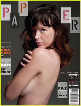 Paz de la Huerta Covers 'Paper' Winter 2010