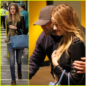 Rosie Huntington-Whiteley & Jason Statham Make It to Miami