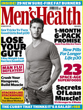 Ryan Kwanten Covers Men's Health December 2010